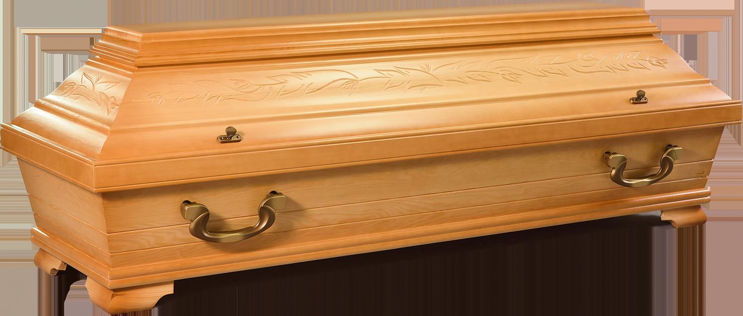 TULPE – 154 | Karniessarg mit Tulpenschnitzung