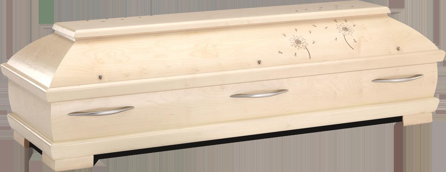 PUSTEBLUME – 080   Truhensarg mit Echtholzintarsie
