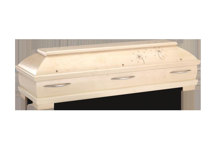 PUSTEBLUME – 080 | Truhensarg mit Echtholzintarsie